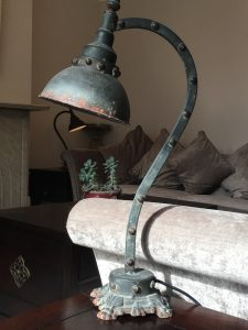 Lamp to be up-cycled for lounge mood board