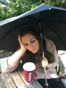 Georgina Burnett with caffeine withdrawal symptoms