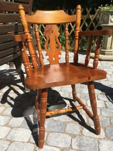 'before' pine chair upcycle pine chairs