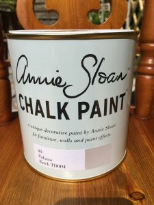 Annie Sloan Paloma paint upcycle pine chairs