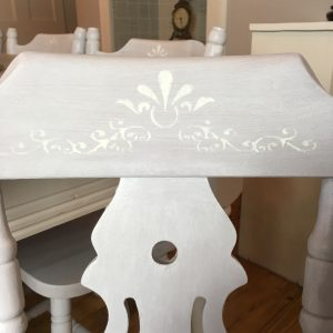 stencil upcycle pine chairs