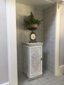 feature fireplace with tiles