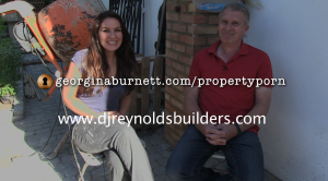 Doug the builder and Georgina Burnett