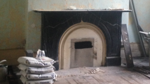 before fireplace - restore a victorian fireplace