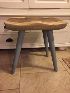 milk paint stool