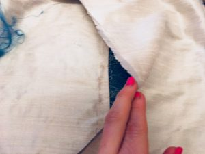 how to make a cushion back flaps