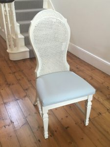 How to reupholster a chair: chair after