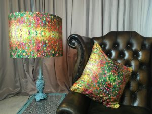 cushions and lamp shade