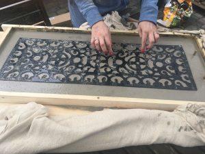 mat in concrete