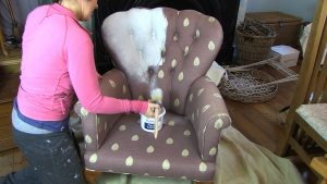paint fabric with chalk paint painting
