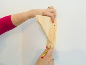 how to put up a shelf pencil