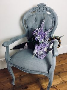 DIY spring decorations chair