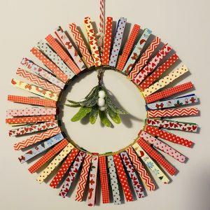 rainbow wreath pegs