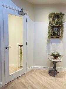 glass doors inside lounge