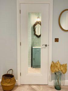 glass doors shower room