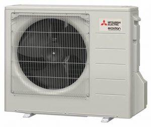 air source heat pump outside