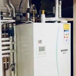 air source heat pump on own